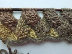 How to Knit * Entrelac in Rows without Turns & Purls