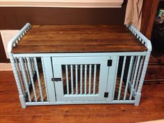 dog care,dog grooming tips,dog ideas,dog nail trimming,dog ear cleaner Animal Projects, Diy Projects, Diy Dog Crate, Puppy Crate, Crate Bed, Pet Furniture, Upcycled Furniture, Antique Furniture, Bedroom Furniture