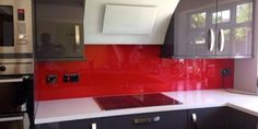Acrylic Splashback Red 298X150
