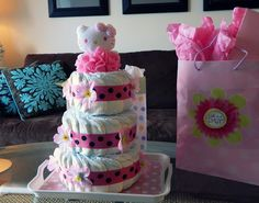 New Diaper cake idea