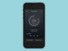 Music Player UI by Florian Gampert