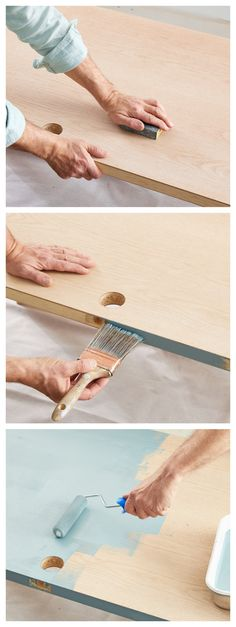 How to paint an interior door - practical tips and over 100 inspiring ideas The big trends in interior design have already been unveiled. On the program: the colorful entrance doors that are true decorative elements. Home Decor Painted Trays, Painted Doors, Interior Door, Interior Design, Honeycomb Tile, Basement Painting, Semi Gloss Paint, World Map Wallpaper, Yellow Doors