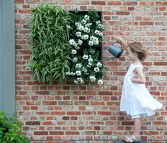 Pflanzenwand Modul für In- und Outdoor / urban gardening: wall for plants and flowers, could be used inside and outside by StadtLandBalkon via DaWanda.com