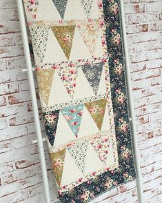 A gorgeous sample of the Memory Lane Banner kit, picture courtesy of Tilda Australia (Two Green Zebras) Quilt Baby, Baby Girl Quilts, Girls Quilts, Baby Quilt For Girls, Patchwork Quilting, Scrappy Quilts, Easy Quilts, Patchwork Blanket, Lap Blanket