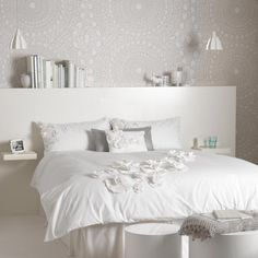 White sytle ideas for your home, including bedrooms, living rooms and kitchens