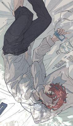 """一入 on Twitter: """"朝… """" Chibi Cat, Anime Chibi, Anime People, Anime Guys, Anime Art Girl, Manga Art, Haikyuu Characters, Hisoka, Art Reference Poses"""