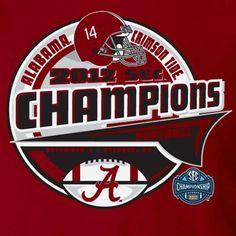 Alabama Crimson Tide 2012 SEC Football Champions