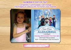 Disney Frozen Invitation printable  by JadeADigitalInvites on Etsy