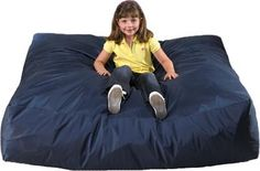 This foam filled pad is available in two sizes. It is covered with a durable nylon cover that wipes clean. Sturdy enough for jumping on and soft enough for sitting on and relaxing. It is a helpful tool for improving vestibular senses. Sensory Rooms, Autism Sensory, Sensory Play, Sensory Bins, Sensory Therapy, Crash Mat, Motor Planning, Sensory Stimulation, Sensory Integration