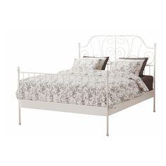 LEIRVIK Bed Frame white