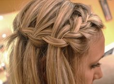 Cute and intricate braided halo style
