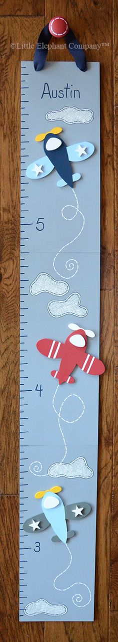 Vintage Airplane Wooden Growth Chart by LittleElephantCo on Etsy, $84.99