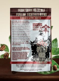 """""""Spotted Horse,"""" Coffee Blends is roasted here on the White Earth Reservation. We featured beans from Indigenous communities around the world and we feature fair trade and organic coffees."""