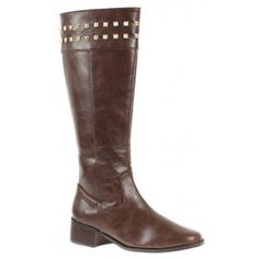 Low heel boot shoe for women, a casual, comfort shoe in brown color by Annie at $89.00