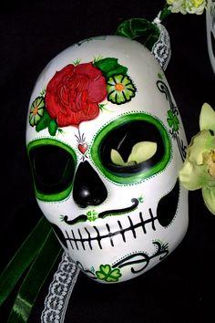 Men's Sugar Skull Mask for Day of the Dead