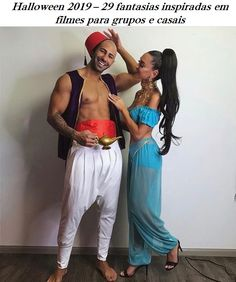 Welcoming the screening of Aladdin, we have rounded up 49 Princess Jasmine Costume Ideas for you. Princess Jasmine's costume is one of the favorites for women for Disney-themed events because… Aladdin Halloween, Cute Couple Halloween Costumes, Trendy Halloween, Cute Costumes, Halloween Dress, Halloween Outfits, Disney Couple Costumes, Woman Costumes, Pirate Costumes