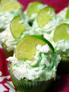 Recipe for Lime Coconut Cupcakes