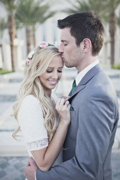 q and n + bridals + gilbert arizona temple + lds wedding + wedding dress + jrousselphoto + flower crown