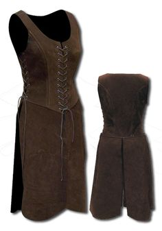 Lady, darkbrown - Armour for Women - Leather Armour - Armour