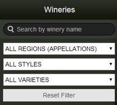 Wine ON Tour allows you filter Ontario wineries by Region, Style or Varieties so that you can make YOUR tour, YOUR own.