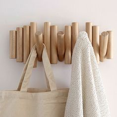 Wall Mounted Coat Rack, Coat Hooks, 3d Wall Art, Wall Art Decor, Scandinavian Style, Casa Top, Natural Wood Finish, Wall Organization, Wall Hanger