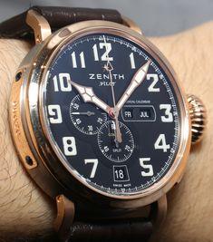 Zenith Pilot Montre d'Aéronef Type 20 Annual Calendar Watch Hands On zenith