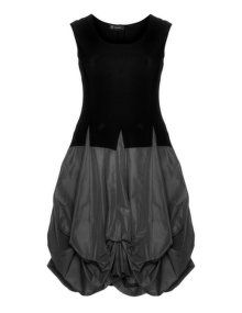 D Celli Balloon dress  in Black / Anthracite