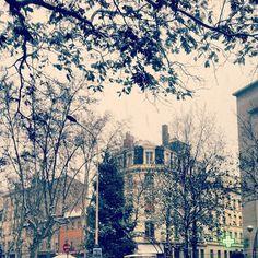 Place Saint-Louis v Lyon, Rhône-Alpes