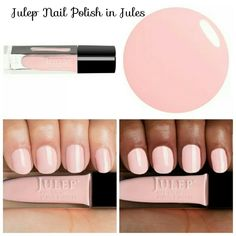 Julep Nail Polish in Jules Jules  (It Girl. Finish: Creme:  Warm powder pink creme)  Breathable Nail Color Treat: Breakthrough Oxygen Technology powers this fast-drying, long-lasting nail polish to get nails healthy and more beautiful at the same time. Proprietary 5-free, vegan-friendly formula also includes strengthening Hexanal and antioxidant green coffee extract.  Special: Purchase 6 or more bottles and receive $2 off each bottle! Julep  Makeup