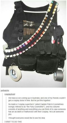 Awesome! Sewing tactical vest!