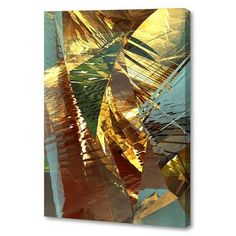 Menaul Fine Art 'Gold Fronds' by Scott J. Menaul Graphic Art on Wrapped Canvas Size: