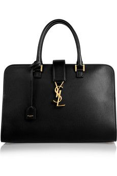 Saint Laurent Monogramme Cabas leather tote | NET-A-PORTER