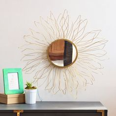 Can't afford the real Anthropologie Queen Anne's Lace mirror? Make one yourself out of wire and styrofoam!