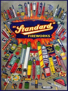 Standard Fireworks Poster There was an Ironmongers shop at the top of our road that sold these. Fireworks and paraffin an interesting combination. Buy Fireworks, Fireworks Design, Vintage Advertisements, Vintage Ads, Vintage Posters, Vintage Antiques, Standard Fireworks, Firework Safety, Firework Colors