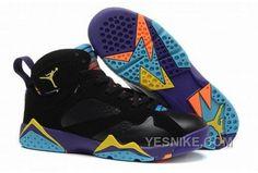 84bb4401db92 Big Boys Shoe Air Jordan 7 Youth Lola Bunny Black Bright Citrus Court Purple  705417 029