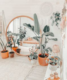 Boho Teen Bedroom, Boho Room, Cute Room Ideas, Cute Room Decor, Room Ideas Bedroom, Bedroom Decor, Aesthetic Room Decor, Aesthetic Plants, Dream Rooms