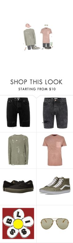 """When Did I Start Caring?"" by irondeficient ❤ liked on Polyvore featuring Topman, River Island, Vans, UNIF and CÉLINE"
