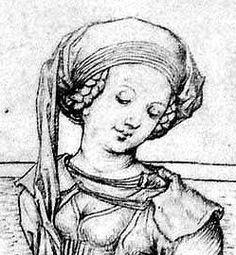 Accessoires und Unterkleidung der Frau, ausgehendes 15. Jh, Schweiz/ Süddeutschland   Haube/ Schleier