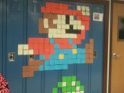 senior prank day post it npte mario