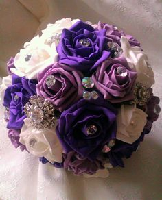 Foam Roses & Brooches Bouquet £75