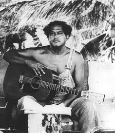 Gabby Pahinui (1921-1980) - Hawaiian guitarist who was instrumental in the the Hawaiian music renaissance of the 1970s. Gabby's voice has the remarkable trait of sounding wounded, knowing, and hopeful - all at the same time.