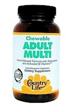 Country Life - Chewable Adult's Multi, 60 wafers ** Details can be found by clicking on the image.
