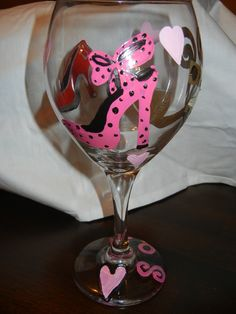 Shoe wine glass