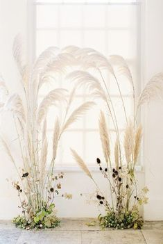 East Meets West - A Fusion of Old World and Eastern Influences Dreamy wedding ceremony backdrop design with trendy pampas grass by Floribunda Rose, styled by Kate Cullen and captures . Decor Photobooth, Flower Installation, Wedding Ceremony Decorations, Decor Wedding, Wedding Ideas, Wedding Ceremony Flowers, Wedding Dried Flowers, Wedding Trends, Wedding Backdrop Design