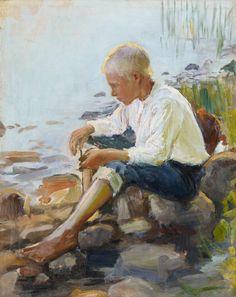 Kansallisgalleria - Taidekokoelmat - Poika rannalla