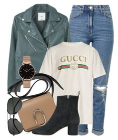 """#ootd"" by monmondefou ❤ liked on Polyvore featuring Topshop, MANGO, Gucci, Isabel Marant, Yves Saint Laurent and CLUSE"