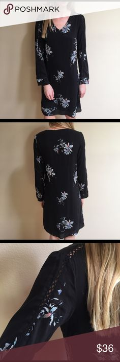 NWT Stitch Fix Black Floral Dress This Gentle Fawn Black Dress from Stitch Fix is perfect for a beautiful spring day. It can easily be dressed down or up for work or a casual day at the park. Breathable and light with a cute floral pattern throughout. Never worn. Tags on. Gentle Fawn Collection Dresses Long Sleeve