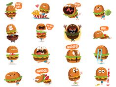 Designed this sticker pack for Facebook a few months ago. It's available now (for free!) so you can go harass your vegan and vegetarian friends with an anthropomorphic Hamburger.