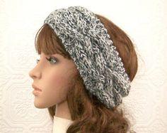 Hand knit headband head wrap ear warmer by SandyCoastalDesigns