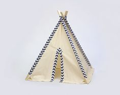 Kid's Teepee Play Tent No. 0277 - Our Original Teepee Tent Design Teepee Play Tent, Teepee Kids, Camping Games, Camping Cot, Family Camping, Camping Tips, Tent Design, Blue Chevron, Slumber Parties